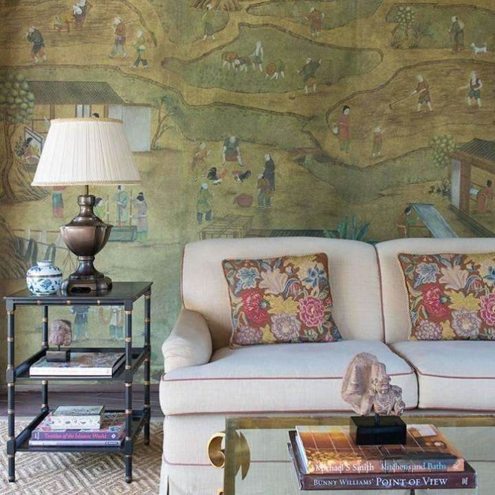 Coutts Custom behang De Gournay Selected wallpapers by OOSTENDORP