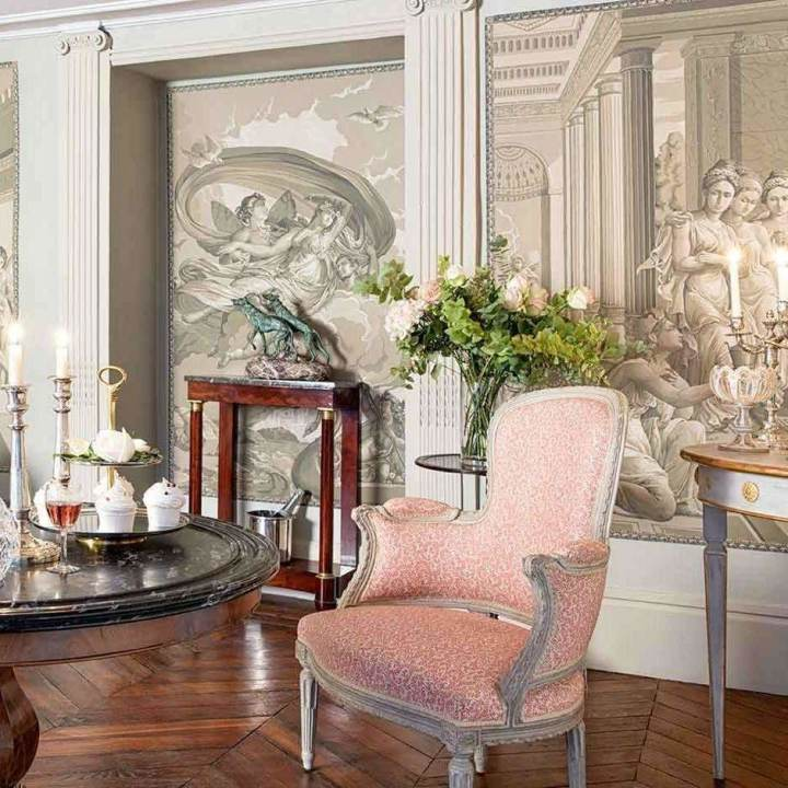 Cupid & Psyche Terre Foncee behang De Gournay Selected wallpapers by OOSTENDORP