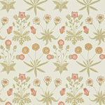 Daisy Coral/Manilla behang Morris & Co Selected wallpapers by OOSTENDORP