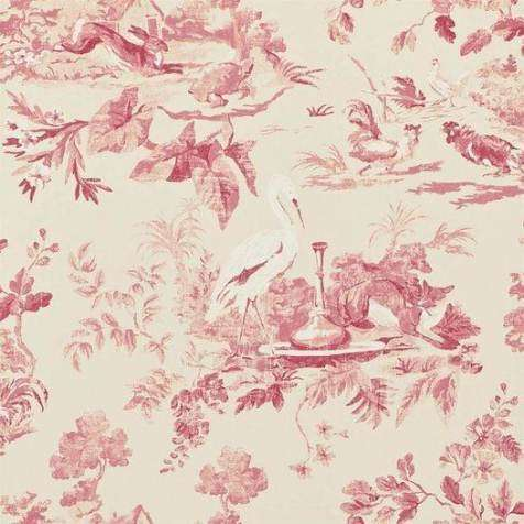 Aesops Fables Pink behang Sanderson Selected wallpapers by OOSTENDORP