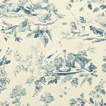Aesops Fables Blue behang Sanderson Selected wallpapers by OOSTENDORP