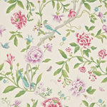 Porcelain Garden Magenta/Leaf Green behang Sanderson Selected wallpapers by OOSTENDORP