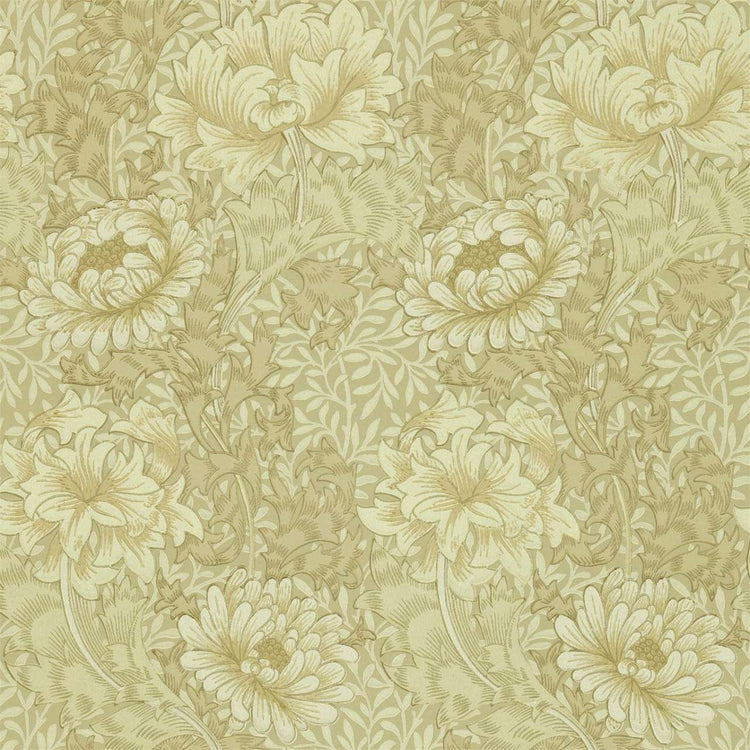 Chrysant Ivory/Canvas behang Morris & Co Selected wallpapers by OOSTENDORP