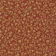 Medway Terracotta behang Morris & Co Selected wallpapers by OOSTENDORP