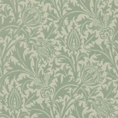 Thistle Eggshel/Ivory behang Morris & Co Selected wallpapers by OOSTENDORP