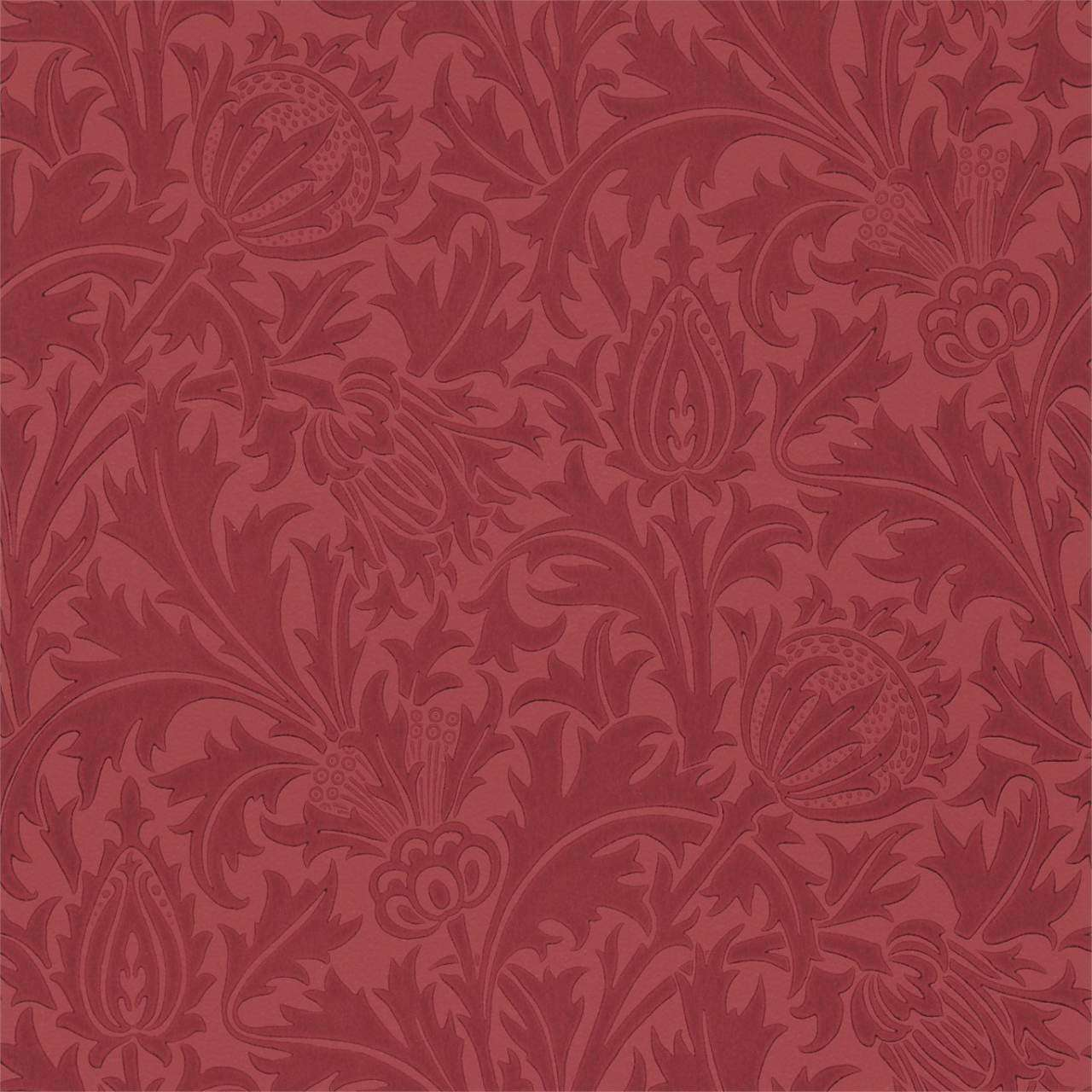Thistle Red behang Morris & Co Selected wallpapers by OOSTENDORP