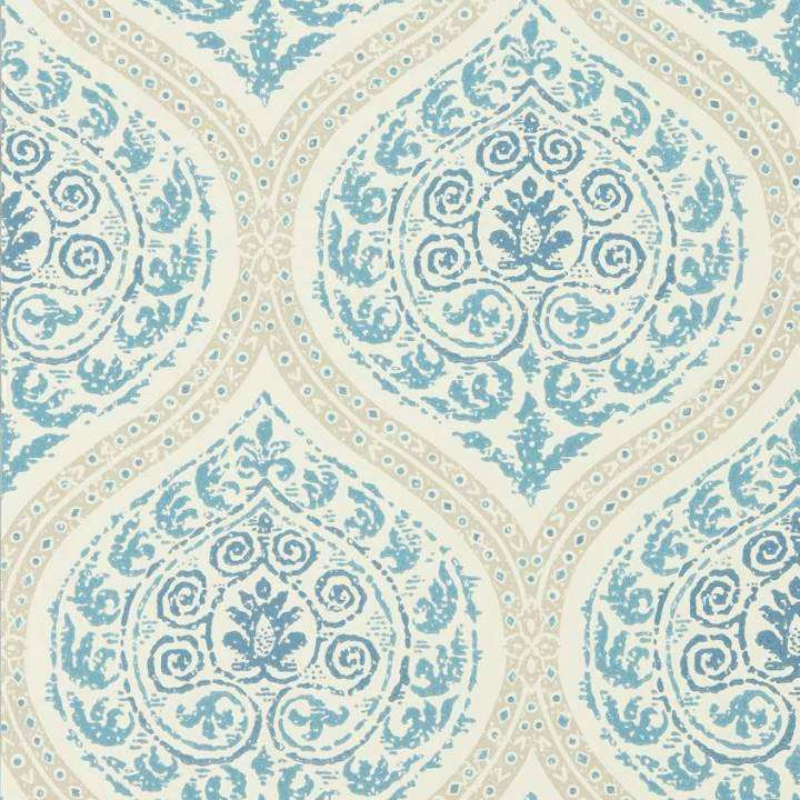 Madurai Indigo behang Sanderson Selected wallpapers by OOSTENDORP