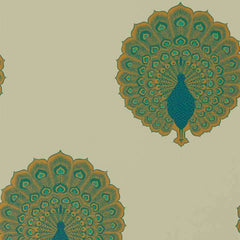 Kalapi Peacock behang Sanderson Selected wallpapers by OOSTENDORP