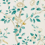 Andhara Teal/Cream behang Sanderson Selected wallpapers by OOSTENDORP