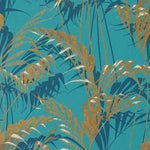 Palm House Teal/Gold behang Sanderson Selected wallpapers by OOSTENDORP