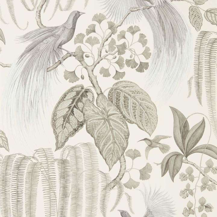 Bird of Paradise Linen behang Sanderson Selected wallpapers by OOSTENDORP