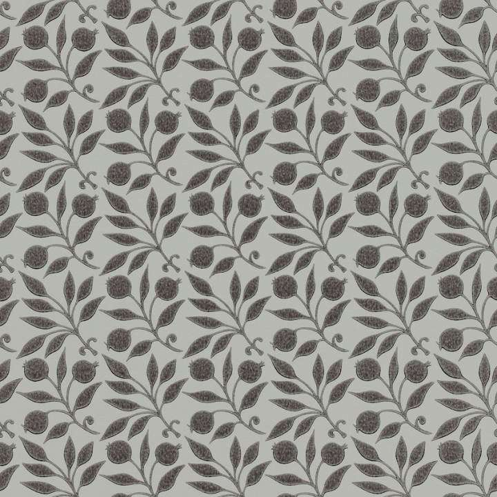 Rosehip Black behang Morris & Co Selected wallpapers by OOSTENDORP