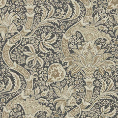 Indian Charcoal/Nickel behang Morris & Co Selected wallpapers by OOSTENDORP