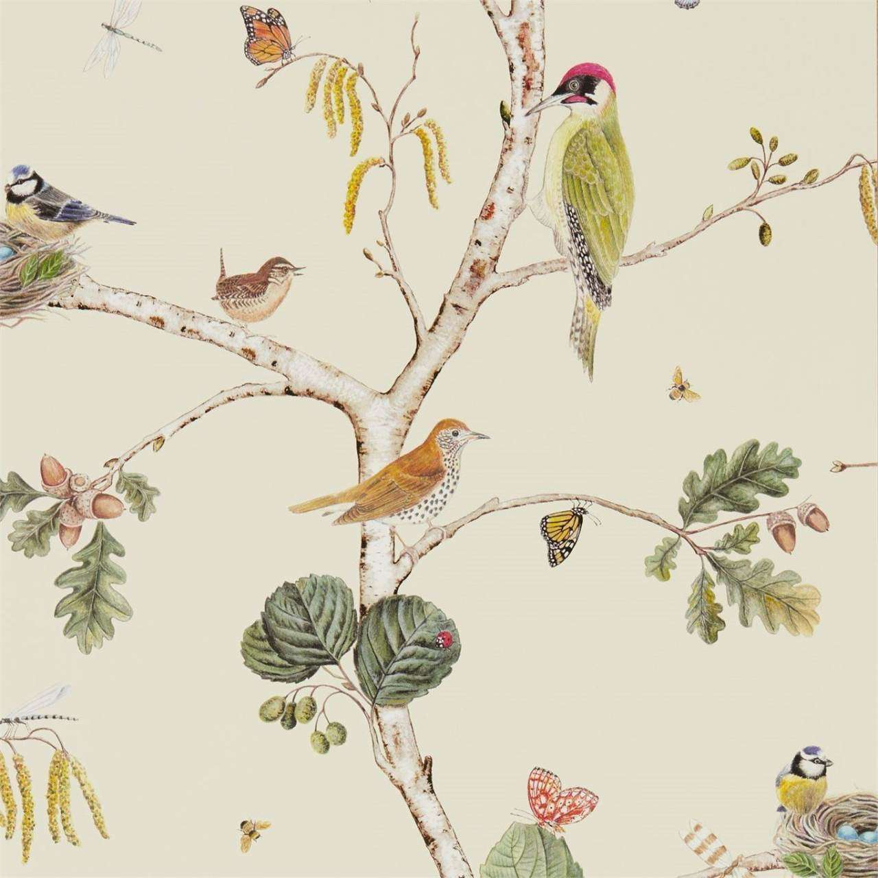 Woodland Chorus Cream/Multi behang Sanderson Selected wallpapers by OOSTENDORP