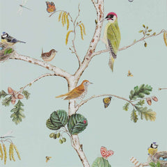 Woodland Chorus Blue/Multi behang Sanderson Selected wallpapers by OOSTENDORP