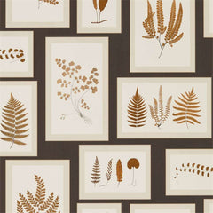 Fern Gallery Charcoal/Spice behang Sanderson Selected wallpapers by OOSTENDORP