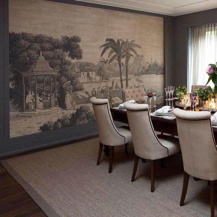 Procession Chinoise Eau Forte behang De Gournay Selected wallpapers by OOSTENDORP