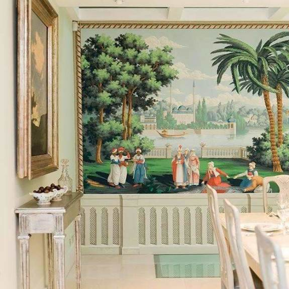 Rives du Bosphore Byzantine behang De Gournay Selected wallpapers by OOSTENDORP