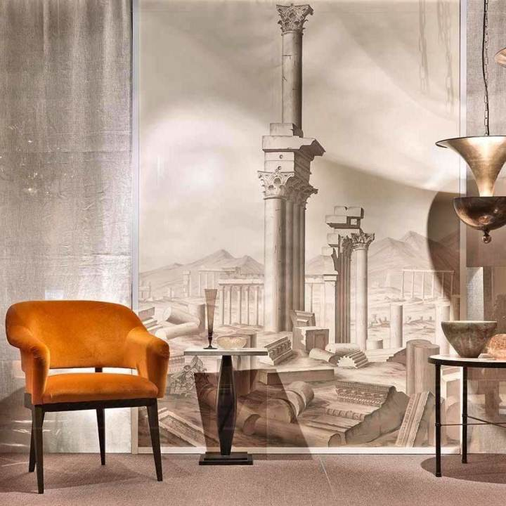 The Ruined City of Palmyra Sepia behang De Gournay Selected wallpapers by OOSTENDORP