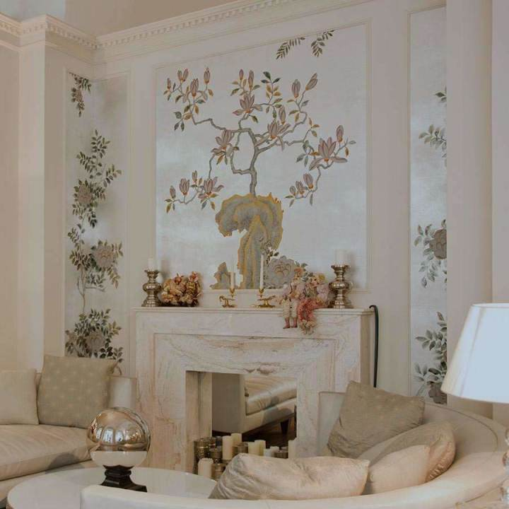 Summer Night Blossom Custom behang De Gournay Selected wallpapers by OOSTENDORP