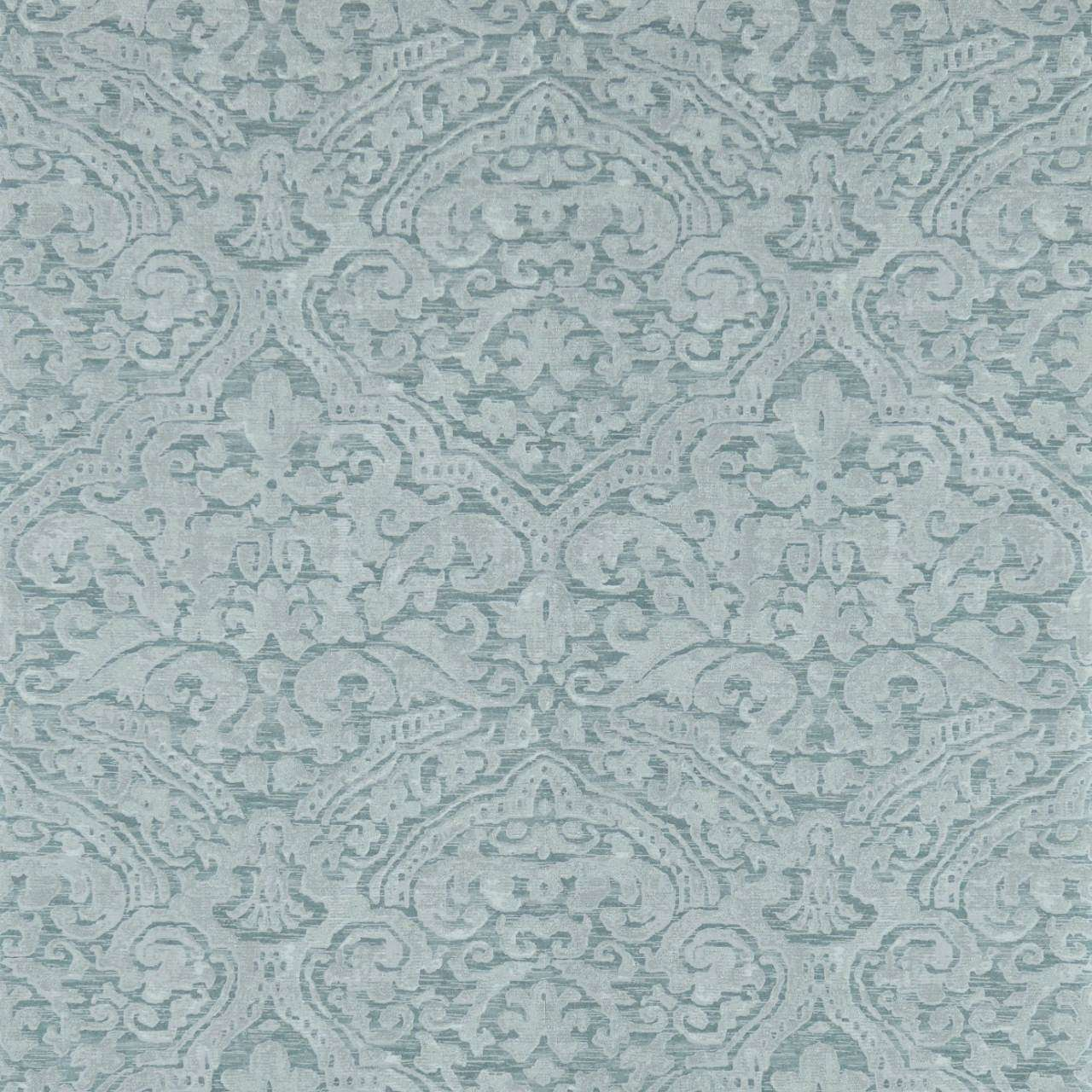 Renaissance Damask Stockholm Blue behang Zoffany Selected wallpapers by OOSTENDORP