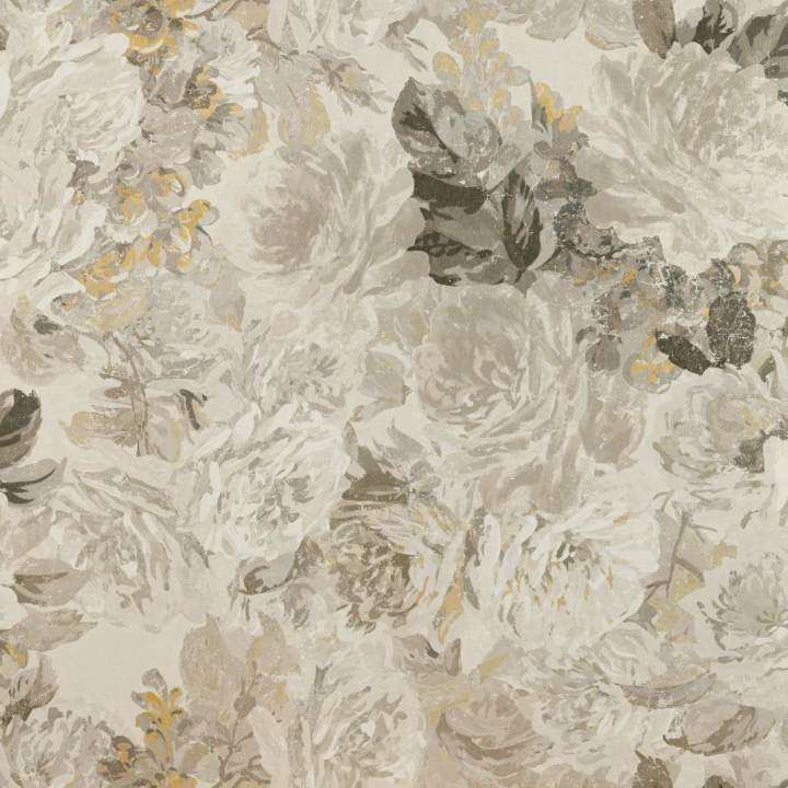 Rose Absolute Linnen/Gold behang Zoffany Selected wallpapers by OOSTENDORP