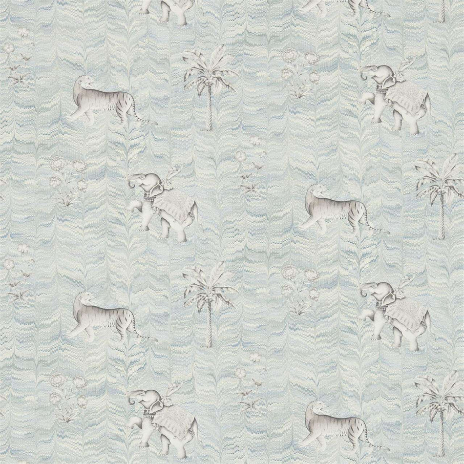 Jaipur Silver behang Zoffany Selected wallpapers by OOSTENDORP