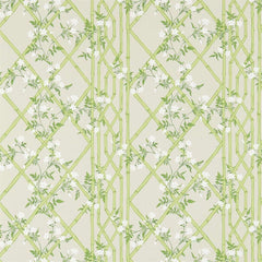 Jasmine Lattice Spring Leaf behang Zoffany Selected wallpapers by OOSTENDORP