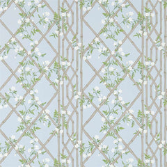 Jasmine Lattice Sky behang Zoffany Selected wallpapers by OOSTENDORP