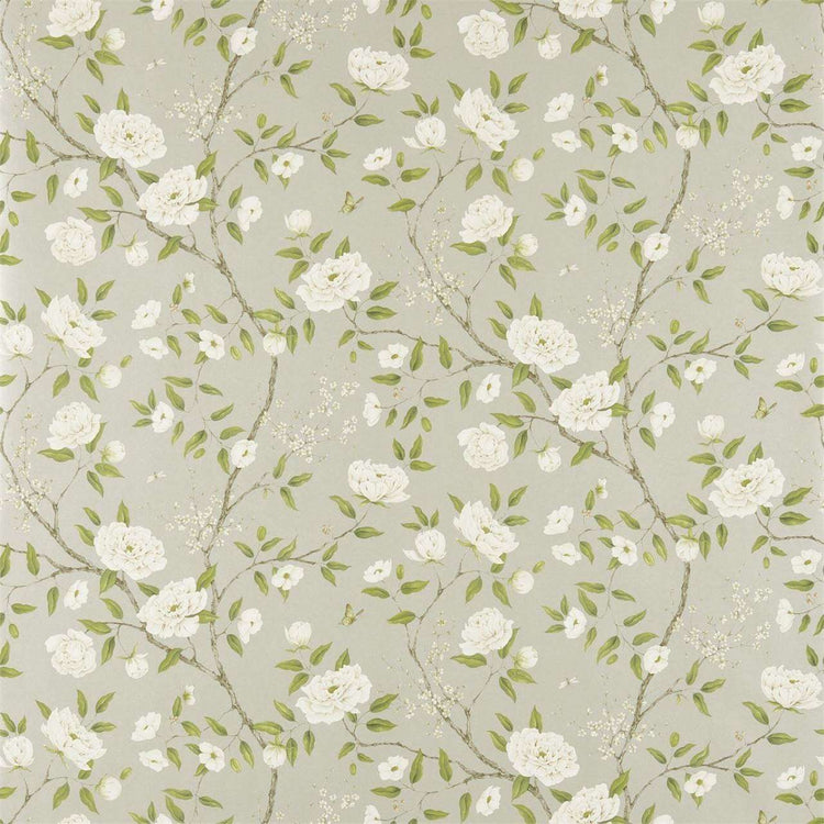 Romey`s Garden Silver behang Zoffany Selected wallpapers by OOSTENDORP