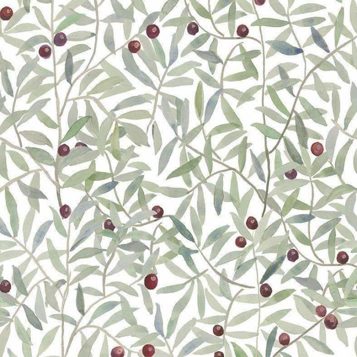 Andrea Zarraluqui - Leaf Craze White Behang Coordonne Selected wallpapers by OOSTENDORP