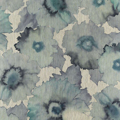 Bloom Turquoise light (s) behang Phillip Jeffries Selected wallpapers by OOSTENDORP