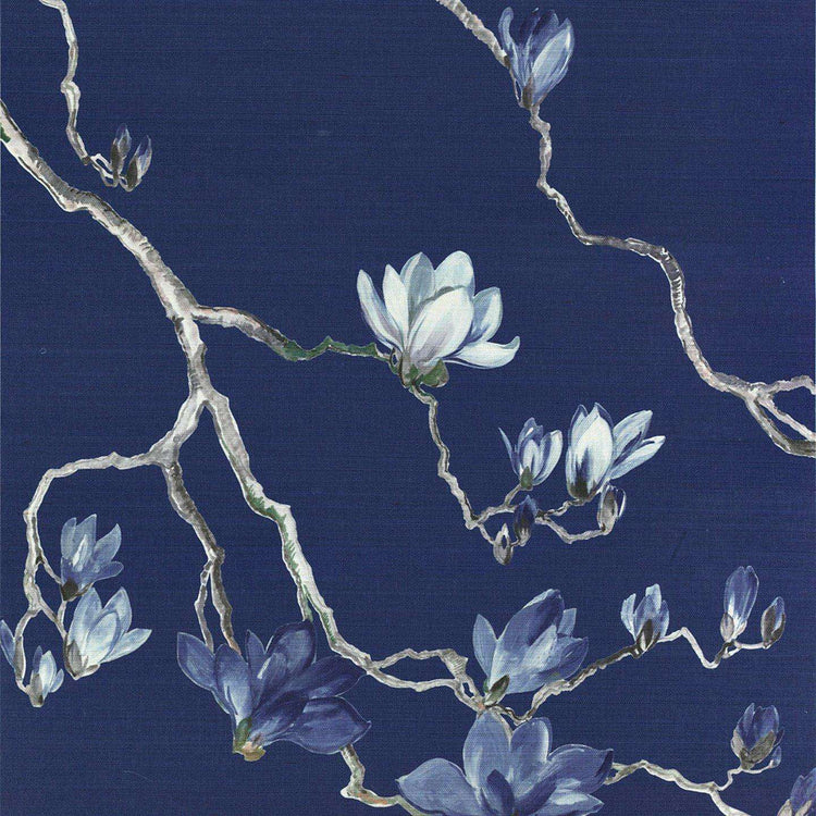 Blossom Porcelain blue behang Phillip Jeffries Selected wallpapers by OOSTENDORP
