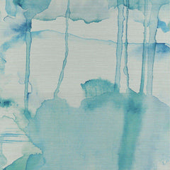 Blur Turquoise behang Phillip Jeffries Selected wallpapers by OOSTENDORP