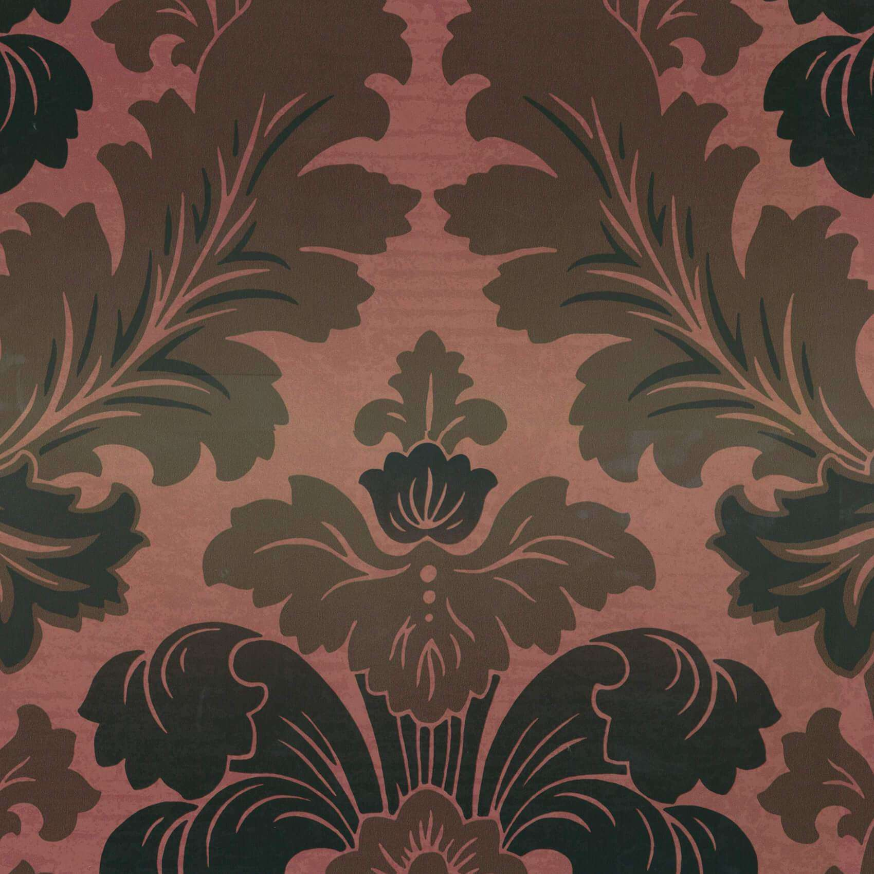 Bonaparte Red Gold behang Little Greene Selected wallpapers by OOSTENDORP