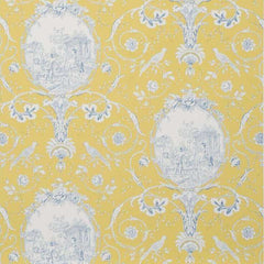La Fontaine Yellow/Blue behang Braquenie Selected wallpapers by OOSTENDORP