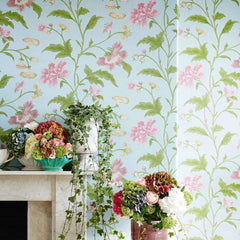 China Rose behang Little Greene Selected wallpapers by OOSTENDORP