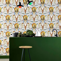 Coquillages et crustaces behang Pierre Frey Selected wallpapers by OOSTENDORP
