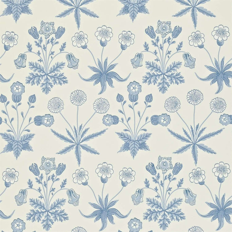 Daisy Blue/Ivory behang Morris & Co Selected wallpapers by OOSTENDORP