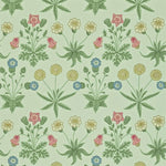 Daisy Pale Green/Rose behang Morris & Co Selected wallpapers by OOSTENDORP