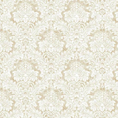 Damask VANILLA CUSTARD Behang Texam Selected wallpapers by OOSTENDORP