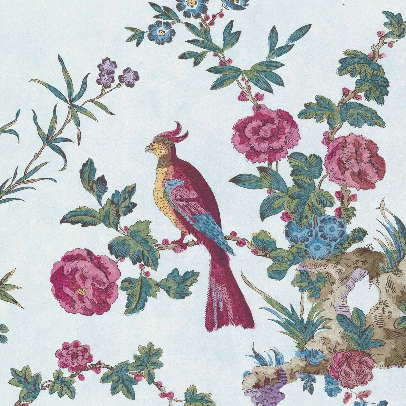 Darwin Azure behang Little Greene Selected wallpapers by OOSTENDORP