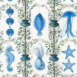 Bonne peche Bleu behang Pierre Frey Selected wallpapers by OOSTENDORP