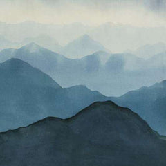 Yunnan Bleu behang Pierre Frey Selected wallpapers by OOSTENDORP