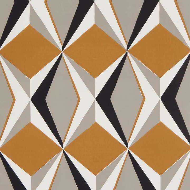 Adamas Ocre behang Pierre Frey Selected wallpapers by OOSTENDORP