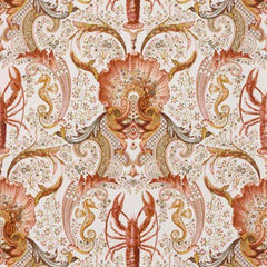 Coquillages et crustaces Corail behang Pierre Frey Selected wallpapers by OOSTENDORP