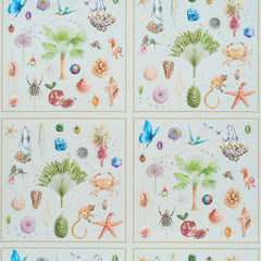 Curiosites Mat Celadon behang Pierre Frey Selected wallpapers by OOSTENDORP