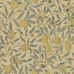 Fruit Blue/Gold/Brown behang Morris & Co Selected wallpapers by OOSTENDORP