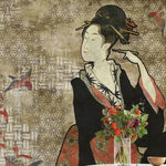 Hiroshi Tsunoda - Geisha Graffiti Behang Coordonne Selected wallpapers by OOSTENDORP