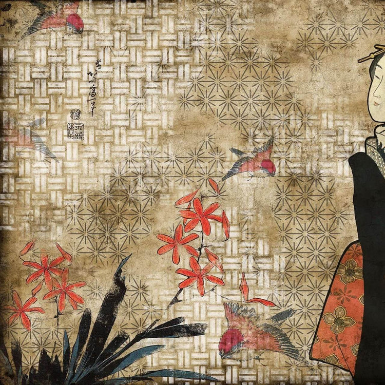 Hiroshi Tsunoda - Geisha Graffiti Hikari Behang Coordonne Selected wallpapers by OOSTENDORP